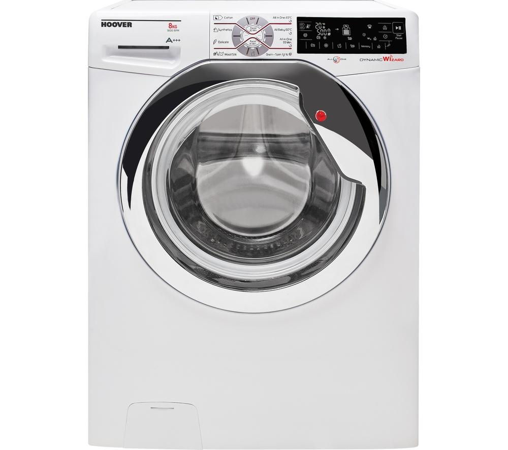 HOOVER Wizard DWTL68AIW3 Washing Machine - White + VTV581NC Vented Tumble Dryer - White