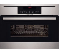 AEG KM8403021M Built-in Combination Microwave - Stainless Steel