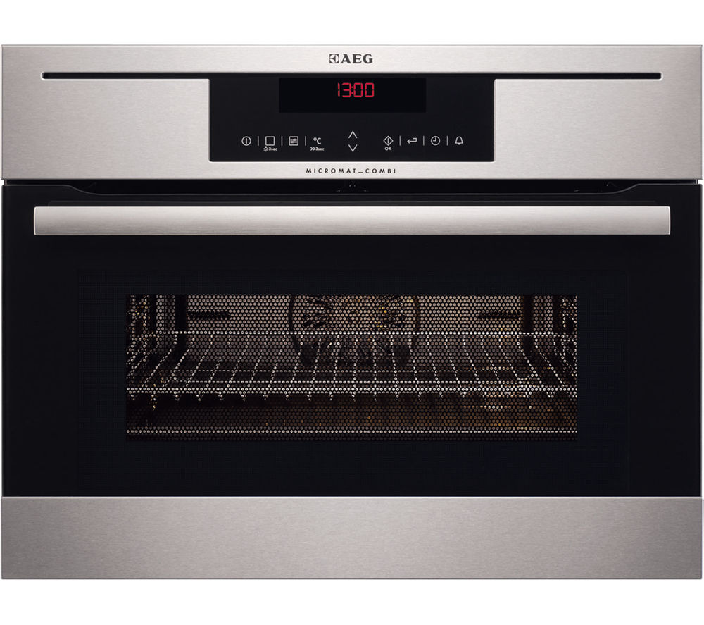 Buy Aeg Km8403021m Built In Combination Microwave Stainless Steel Free Delivery Currys