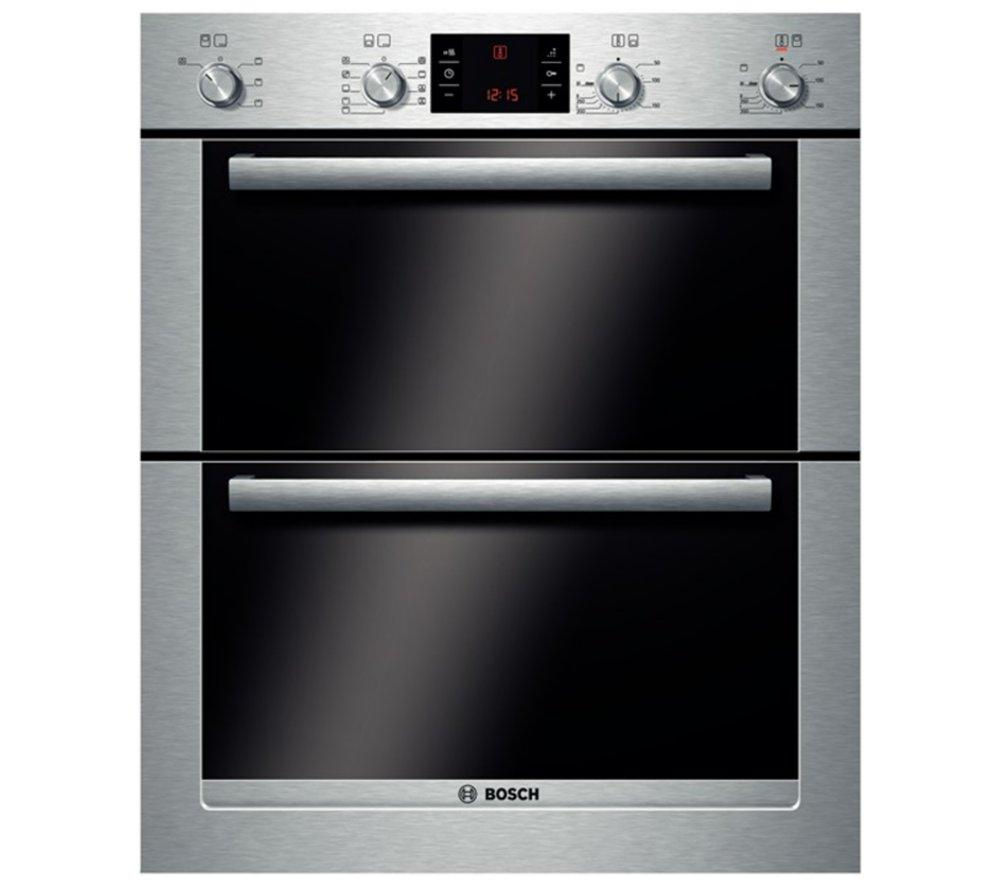 BOSCH  Exxcel HBN53R550B Electric Builtunder Double Oven  Stainless Steel Stainless Steel