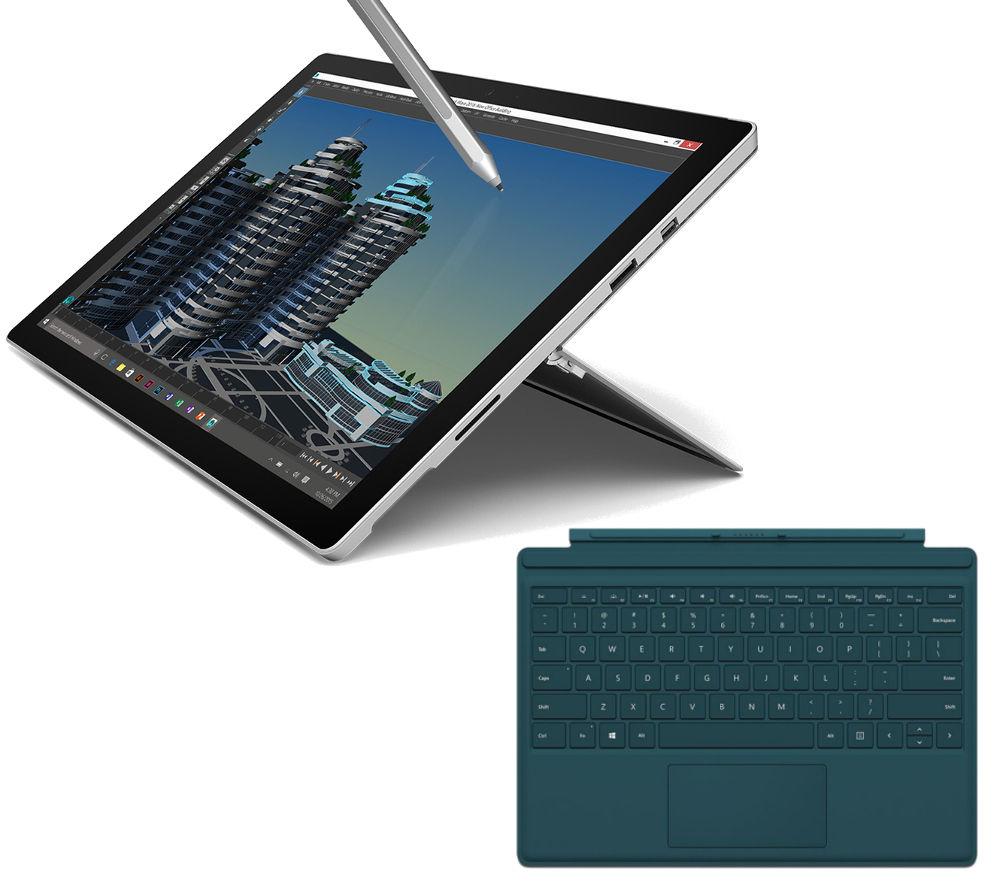MICROSOFT Surface Pro 4 128 GB & Pro 4 Typecover Bundle
