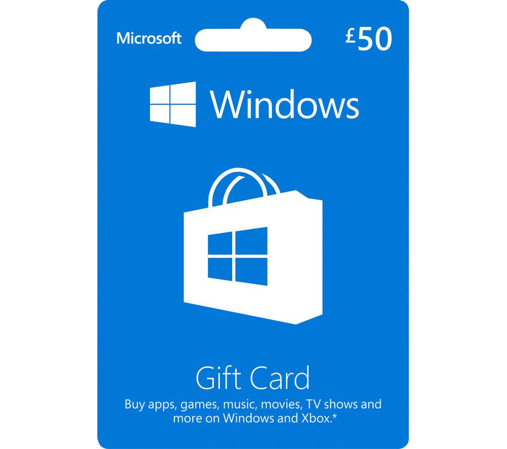 MICROSOFT Windows Gift Card - £50