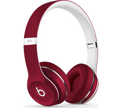 BEATS Solo 2 Headphones - Luxe Edition, Red