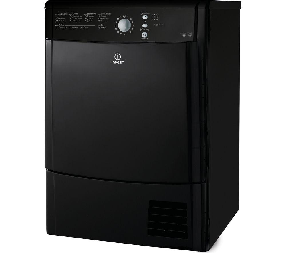 INDESIT  EcoTime IDCL85BHK Condenser Tumble Dryer  Black Black