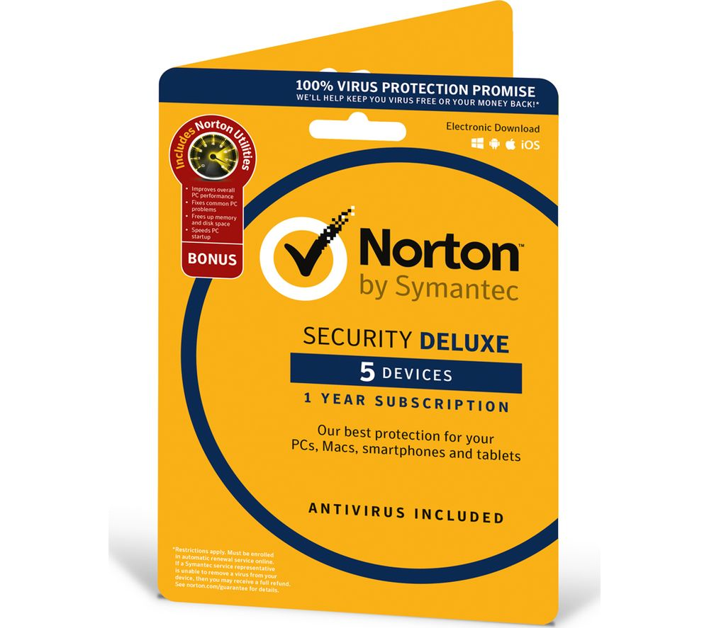 Norton Security Deluxe & Norton Utilities - 5 Devices