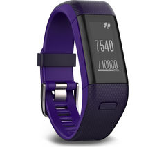 GARMIN vivosmart HR+ - Purple, Medium
