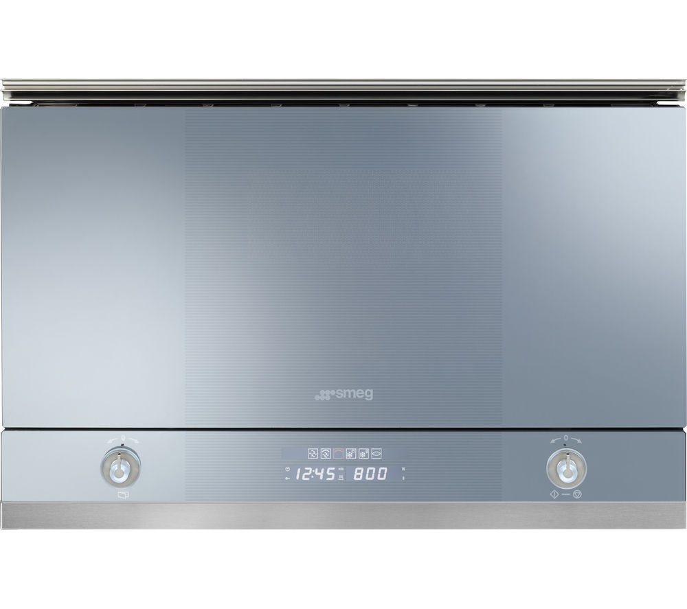 Smeg Linea MP122 Builtin Microwave with Grill  Silver Silver