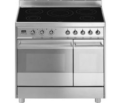SMEG C921IPXB 90 cm Electric Induction Range Cooker - Stainless Steel