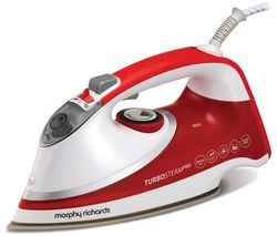 MORPHY RICHARDS Turbosteam Pro Pearl 303124 Steam Iron - White & Red