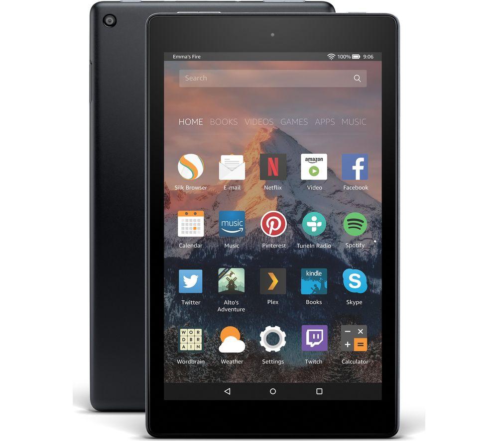AMAZON Fire HD 8 Tablet with Alexa (2017) - 16 GB, Black
