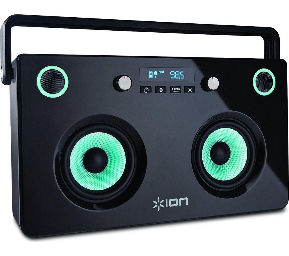 ION Spectraboom Portable Bluetooth Wireless Speaker - Black