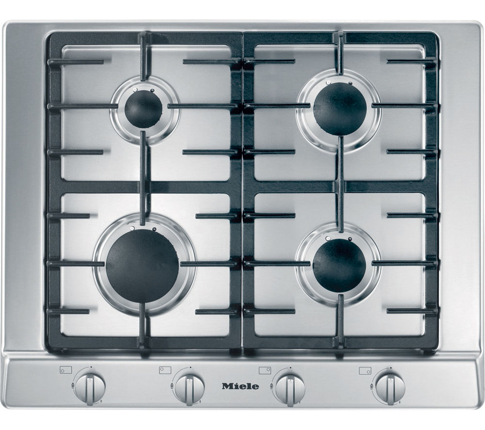 Buy miele km2010 gas hob stainless steel free delivery for Gas kochfeld