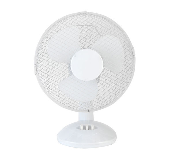 "Image of BELDRAY EH0676 9"" Desk Fan - White, White"