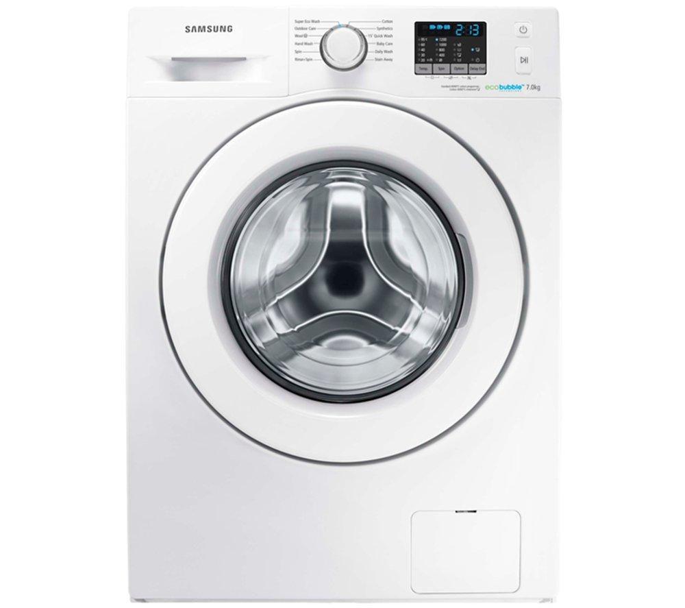 SAMSUNG  ecobubble WF70F5E0W2W Washing Machine - White +  GTN38250HGCW Heat Pump Tumble Dryer - White