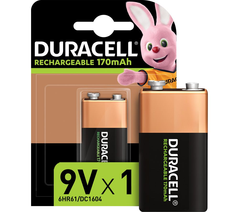 DURACELL HR9V/DC1604 9V Rechargeable NiMH Battery