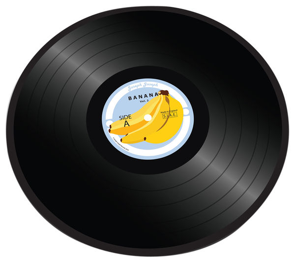 JOSEPH JOSEPH Banana Vinyl Record Chopping Board
