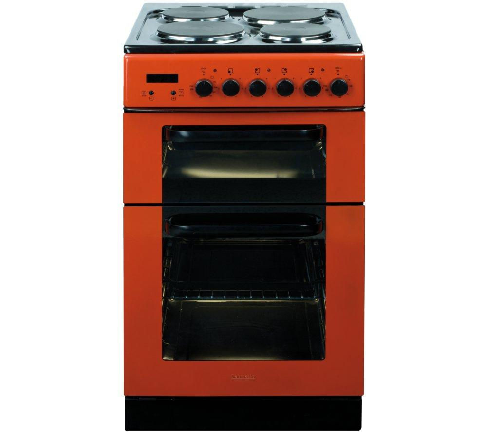 BAUMATIC BCE520R Electric Solid Plate Cooker - Red