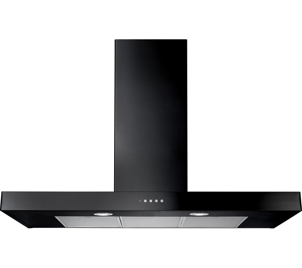 RANGEMASTER Flat 90 Chimney Cooker Hood - Black