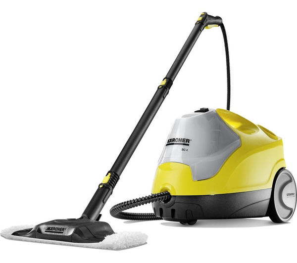 buy karcher sc4 steam cleaner yellow black free delivery currys. Black Bedroom Furniture Sets. Home Design Ideas