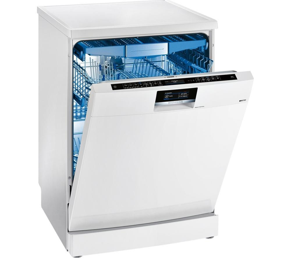 Siemens speedmatic sn277w01tg full size dishwasher white for Siemens speedmatic