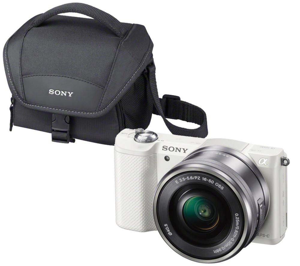 SONY a5000 Compact System Camera, Zoom Lens and Camera Case Bundle