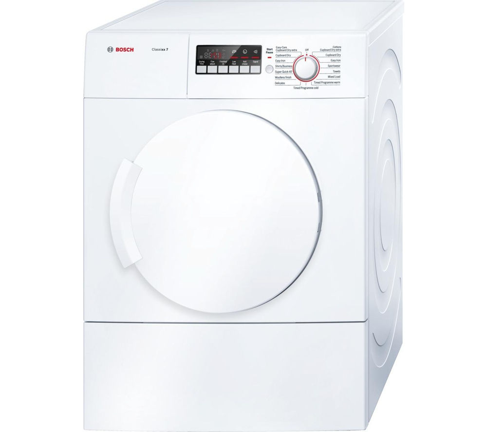 BOSCH  Classixx 7 WTA74200GB Vented Tumble Dryer - White +  SMS40T32GB Full-size Dishwasher - White