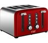 RUSSELL HOBBS Windsor 22831 4-Slice Toaster - Red