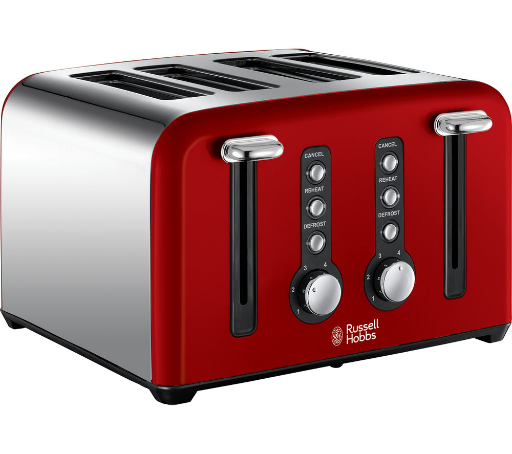 RUSSELL HOBBS  Windsor 22831 4Slice Toaster  Red Red