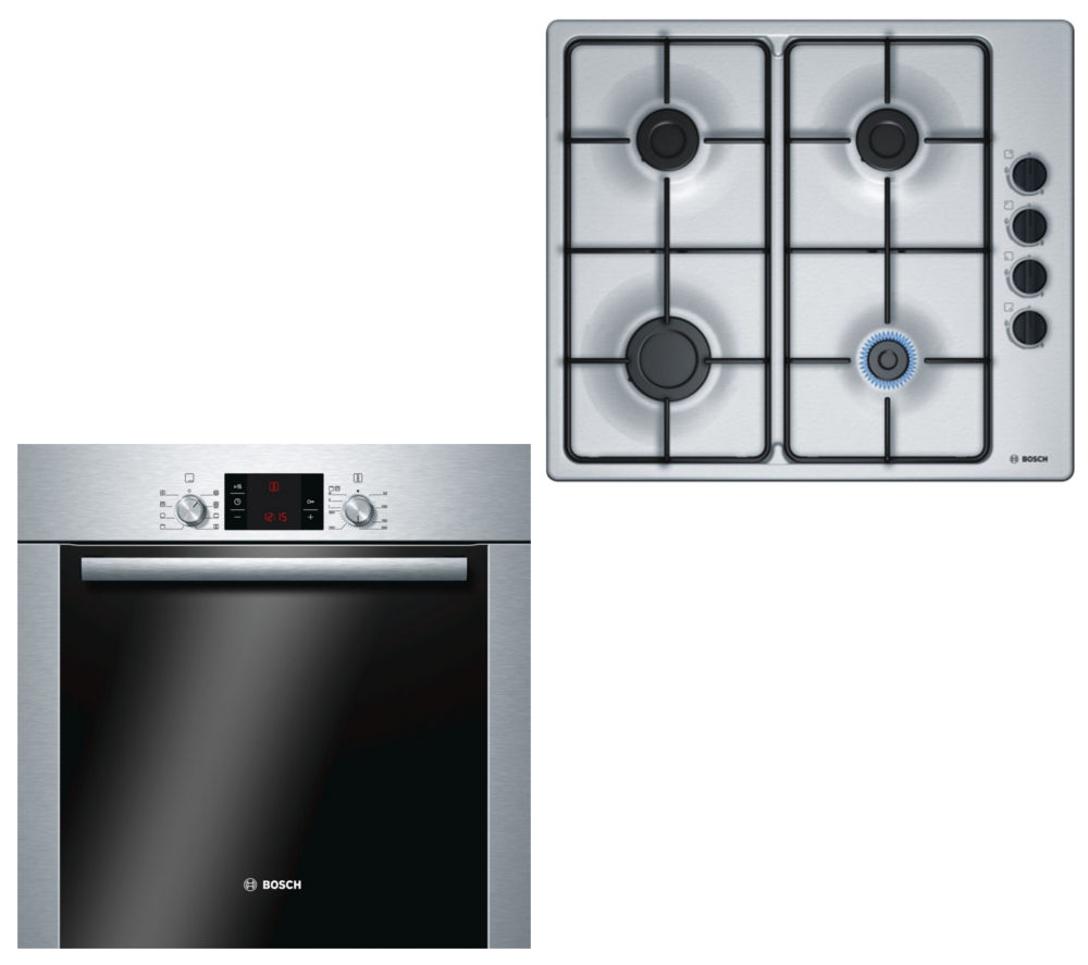 buy bosch hba63r252b electric oven pbp6b5b80 gas hob. Black Bedroom Furniture Sets. Home Design Ideas