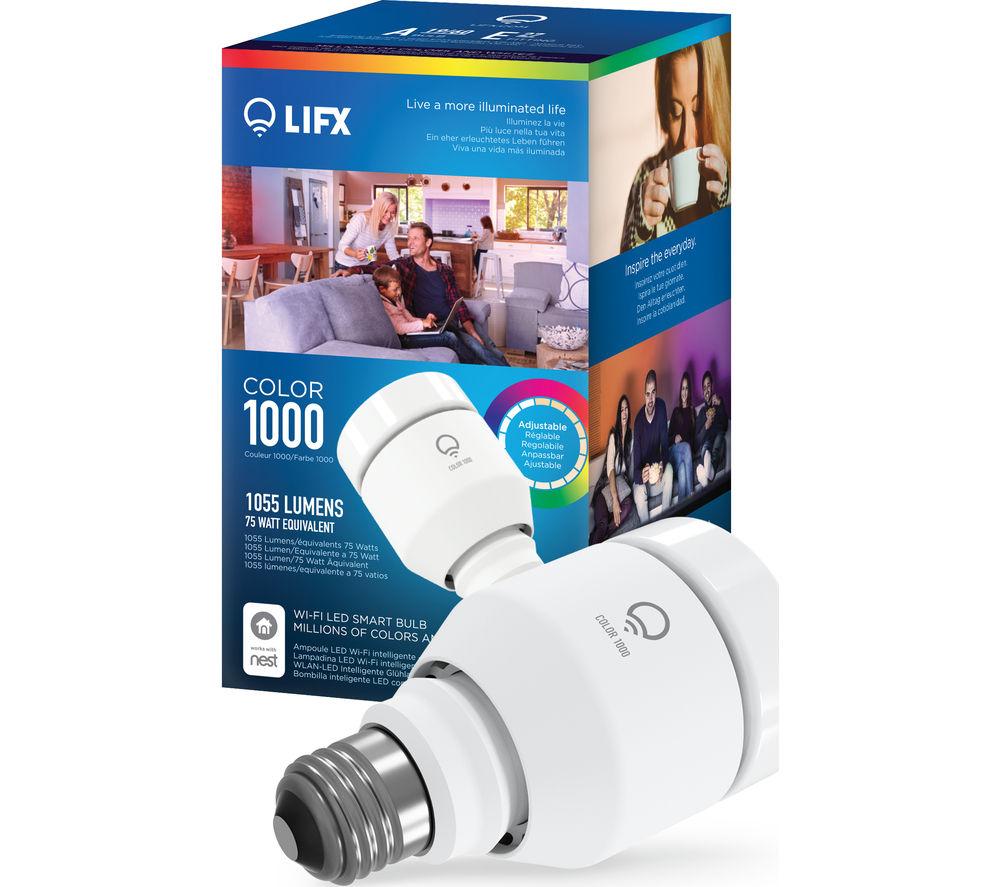 lifx color 1000 wifi led smart bulb lighting. Black Bedroom Furniture Sets. Home Design Ideas