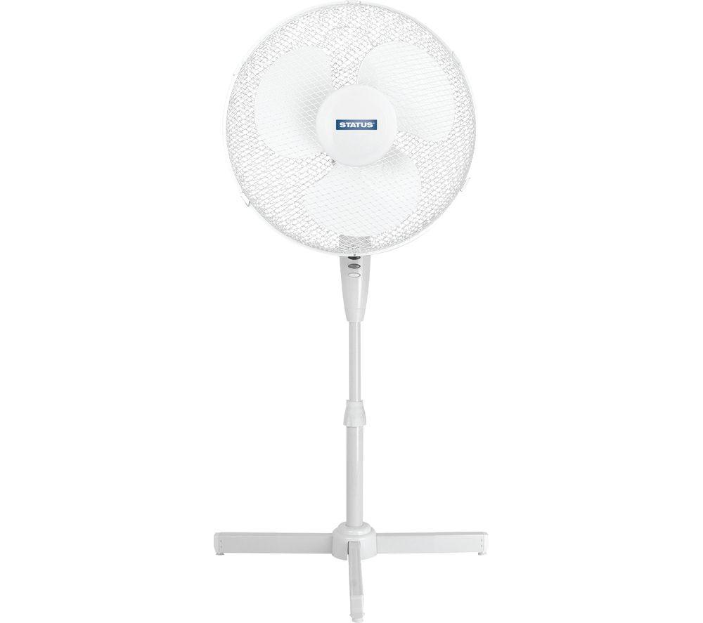 "Image of STATUS 16"" Pedestal Fan - White, White"