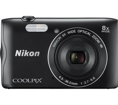 NIKON COOLPIX A300 Compact Camera - Black