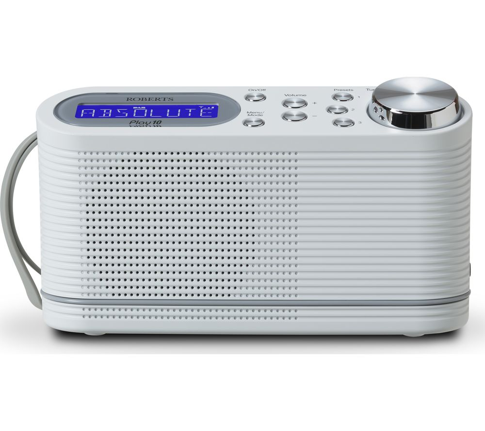Click to view more of ROBERTS  PLAY 10 Portable DABﱓ Radio - White, White