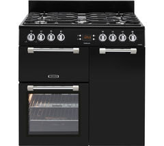 LEISURE Cookmaster CK90G232K Gas Range Cooker - Black & Chrome