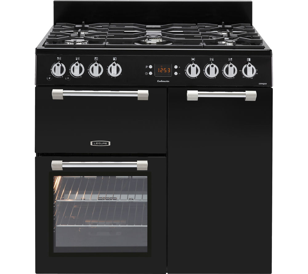 LEISURE Cookmaster CK90G232K Gas Range Cooker - Black & Chrome