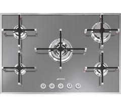 SMEG Linea PVS750 Gas Hob - Silver