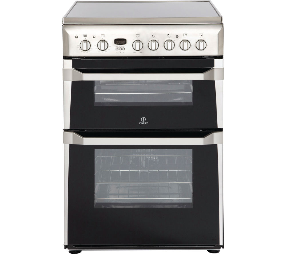 INDESIT ID60C2XS 60 cm Electric Ceramic Cooker - Stainless Steel