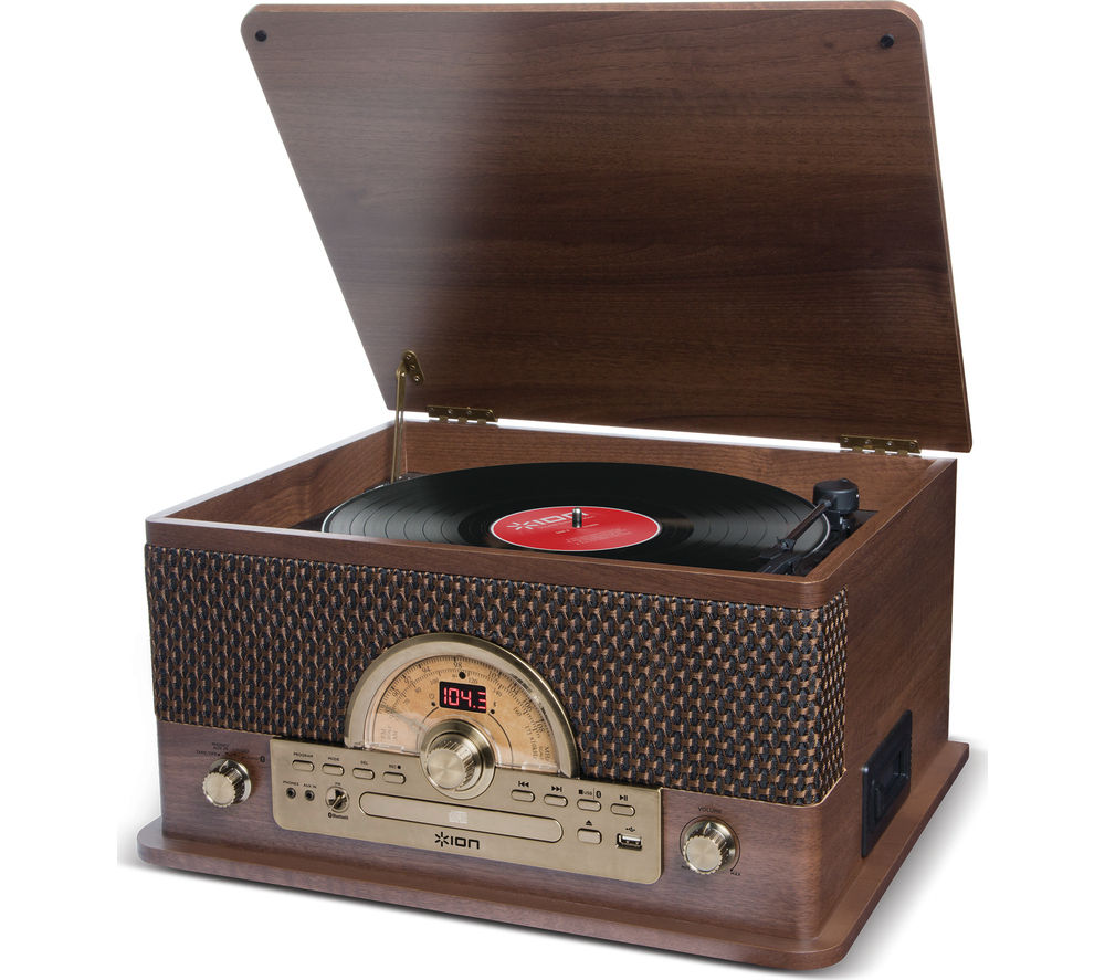 ION Superior LP Wireless USB Turntable - Wood