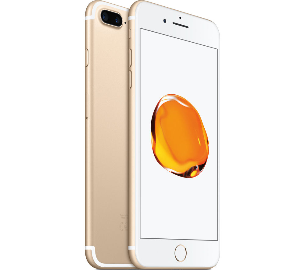 buy apple iphone 7 plus gold 32 gb silicone iphone 7 plus case black free delivery currys. Black Bedroom Furniture Sets. Home Design Ideas