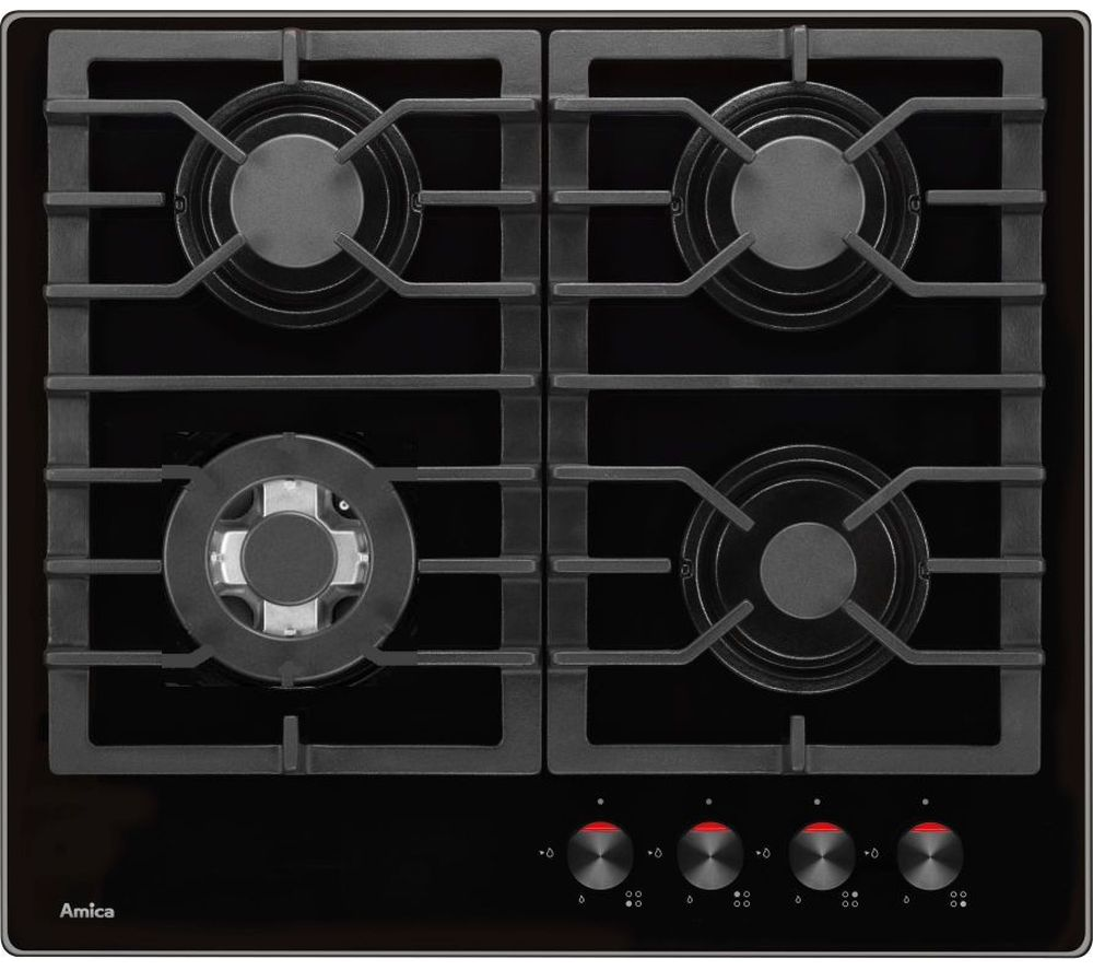 AMICA PHCZ6511 Gas Hob - Black