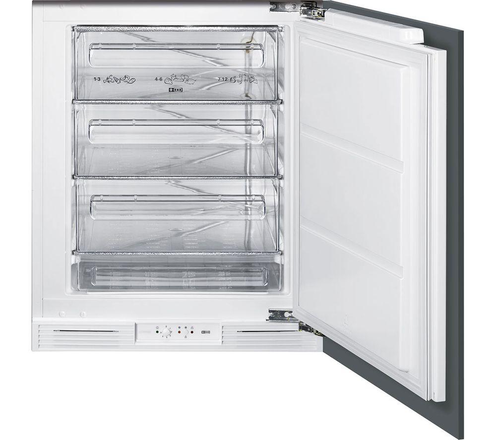 Image of SMEG UKUD7108FSEP Integrated Undercounter Freezer - White, White