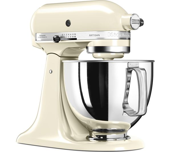 buy kitchenaid 5ksm125bac artisan tilt head stand mixer almond cream