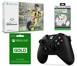 MICROSOFT Xbox One S with FIFA 17