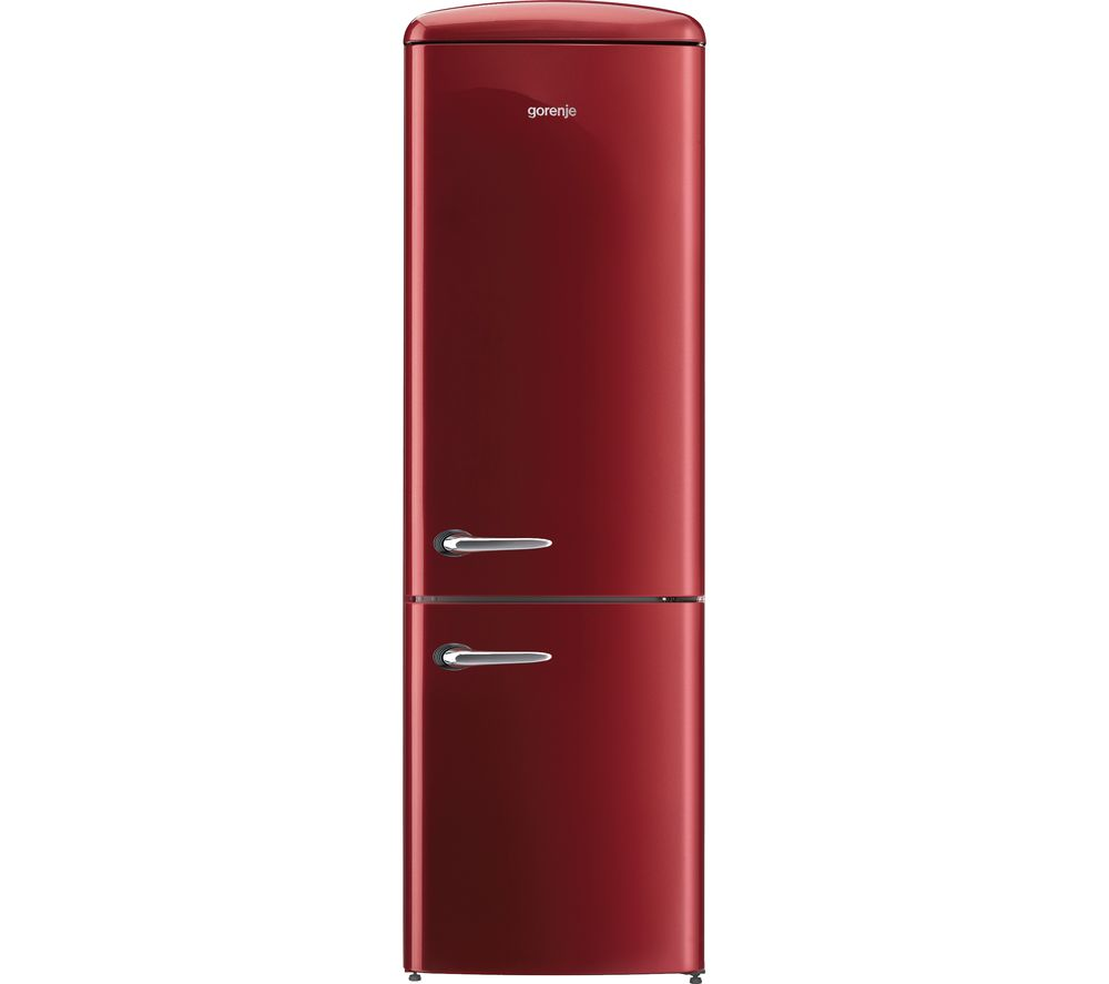 GORENJE ONRK193R Fridge Freezer  Burgundy