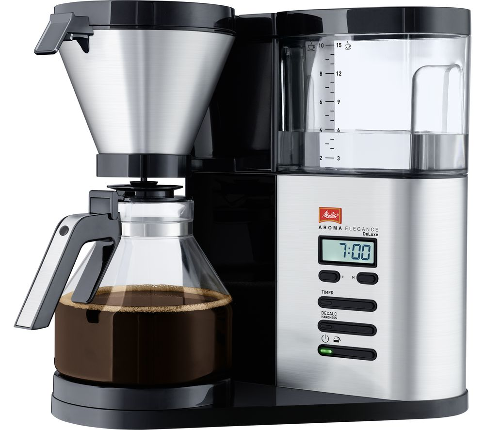 MELITTA AromaElegance Deluxe Filter Coffee Machine  Black & Stainless Steel Stainless Steel