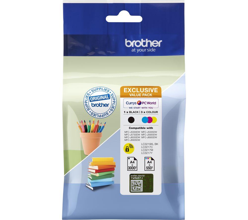 BROTHER LC3219XLDSVALRF Cyan, Magenta, Yellow & Black Ink Cartridges - Multipack