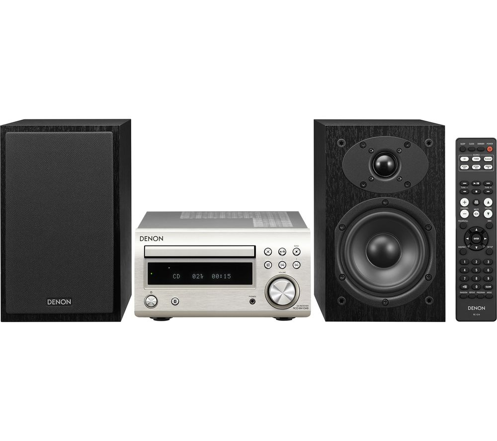DENON DM-41DAB Wireless Traditional Hi-Fi System - Premium Silver