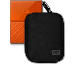 WD My Passport Portable Hard Drive - 1 TB, Orange