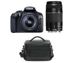 CANON EOS 1300D DSLR Camera with 18-55 mm f/3.5-5.6 & 75-300 mm f/3.5-5.6 Lens - Black