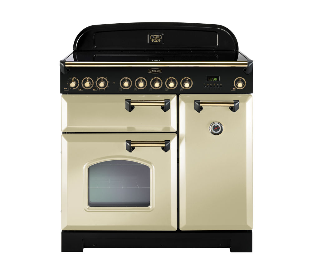 RANGEMASTER Classic Deluxe 90 Electric Range Cooker - Cream & Bronze